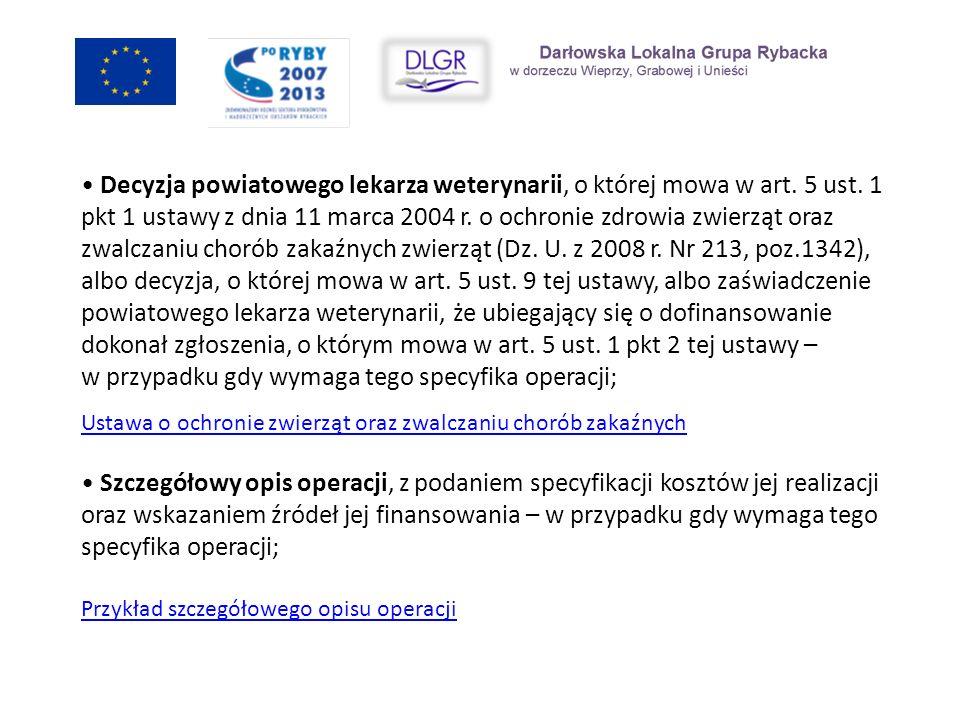 Decyzja powiatowego lekarza weterynarii, o której mowa w art. 5 ust. 1 pkt 1 ustawy z dnia 11 marca 2004 r. o ochronie zdrowia zwierząt oraz zwalczani