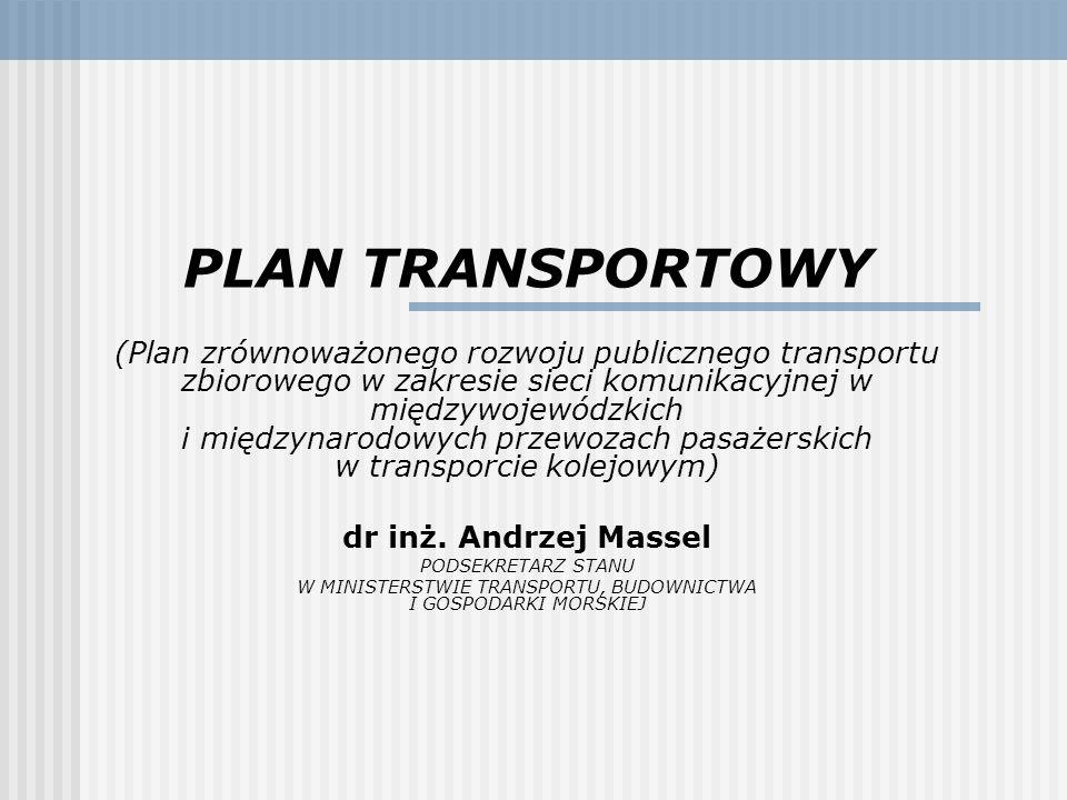 PLAN TRANSPORTOWY (Plan zrównoważonego rozwoju publicznego transportu zbiorowego w zakresie sieci komunikacyjnej w międzywojewódzkich i międzynarodowy