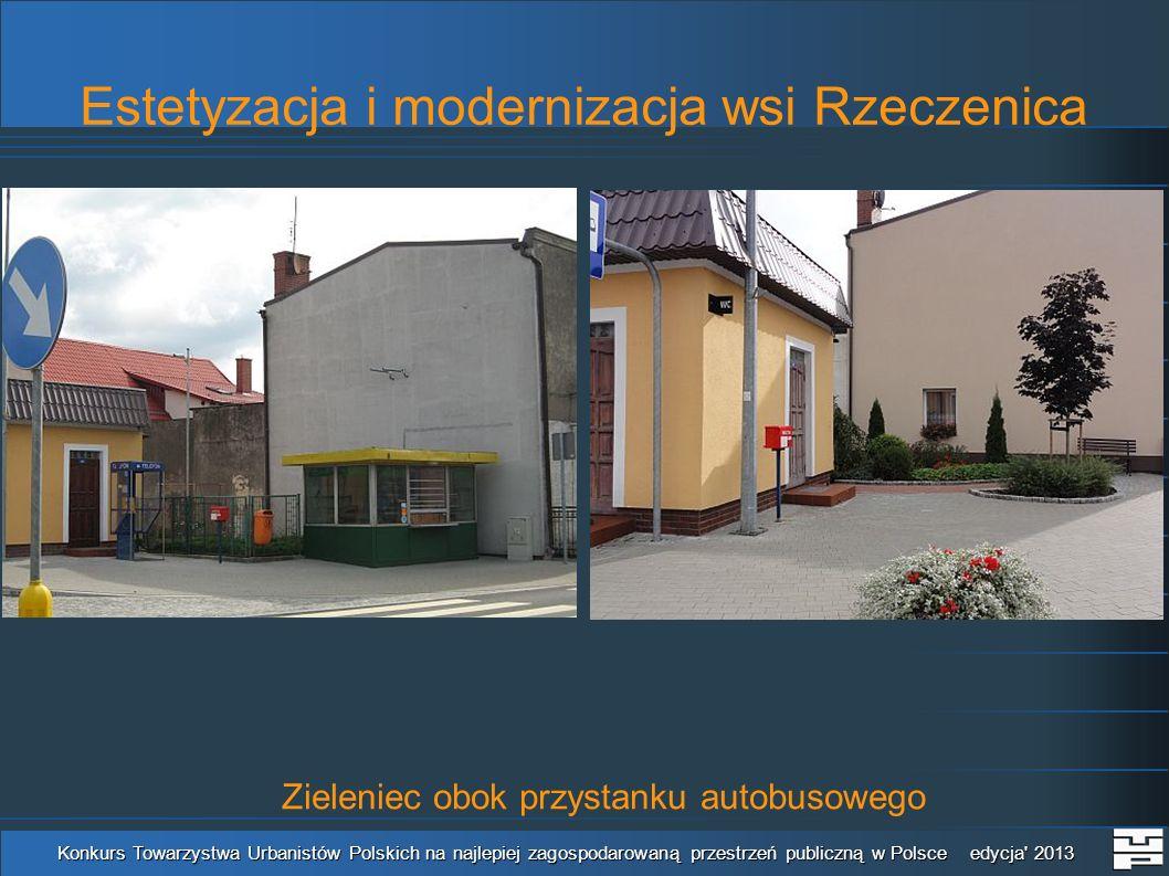 Estetyzacja i modernizacja wsi Rzeczenica Konkurs Towarzystwa Urbanistów Polskich na najlepiej zagospodarowaną przestrzeń publiczną w Polsce edycja 2013 Teren placu zabaw
