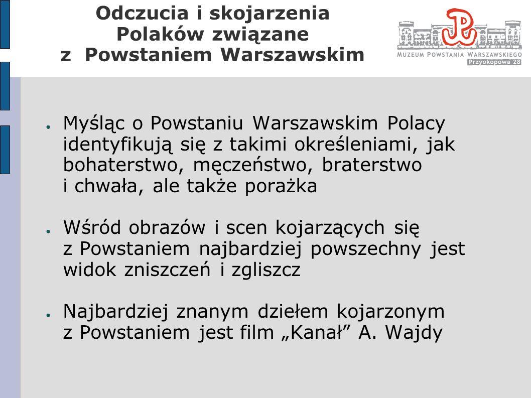 Myśląc o Powstaniu Warszawskim Polacy identyfikują się z takimi określeniami, jak bohaterstwo, męczeństwo, braterstwo i chwała, ale także porażka Wśró