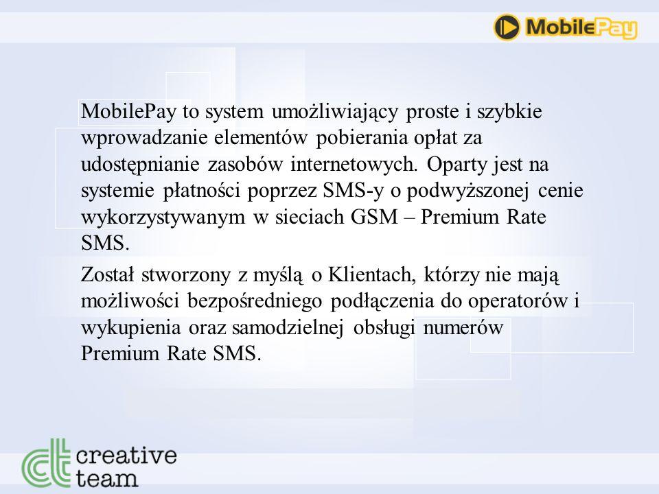 MobilePay System autoryzacji płatnego dostępu do usług internetowych