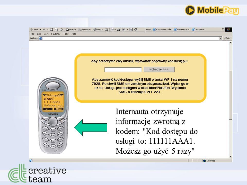 Strona internetowa Informacja o pobraniu kodu trafia do systemu MobilePay Klienta WP 17928 Aby przeczytać cały artykuł, wprowadź poprawny kod dostępu.
