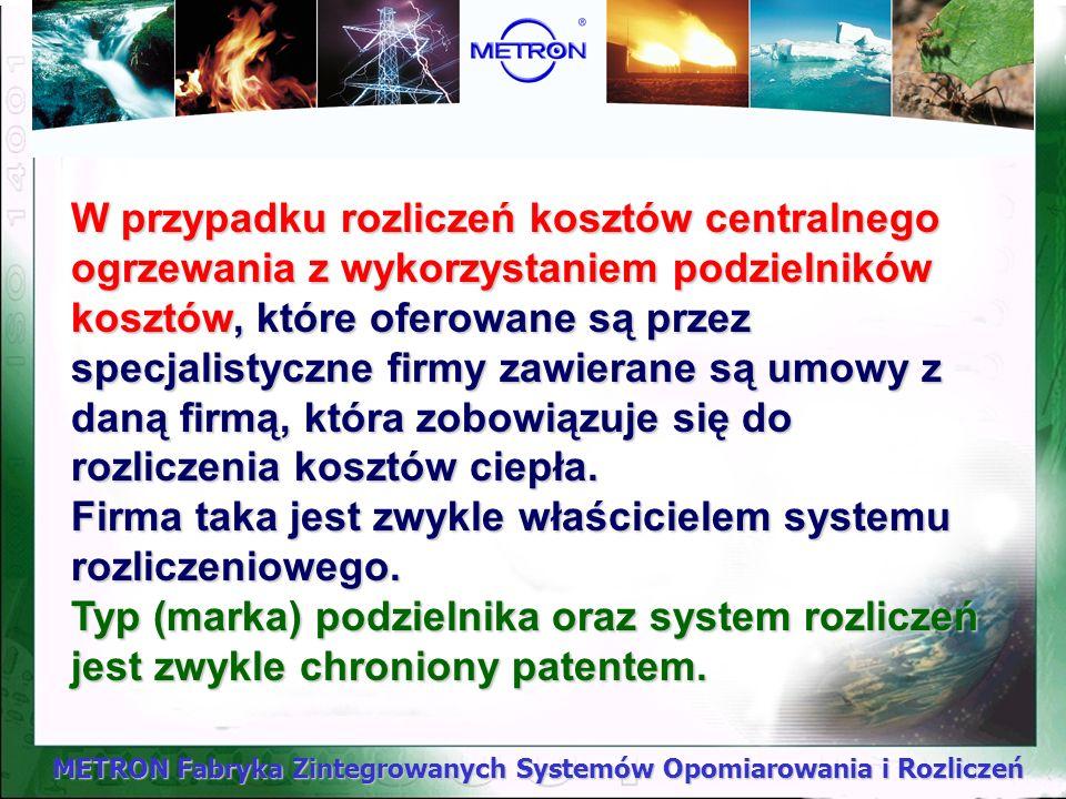 METRON Fabryka Zintegrowanych Systemów Opomiarowania i Rozliczeń Podstawą prawną dla ustanowienia tych regulacji w przypadku spółdzielni mieszkaniowyc