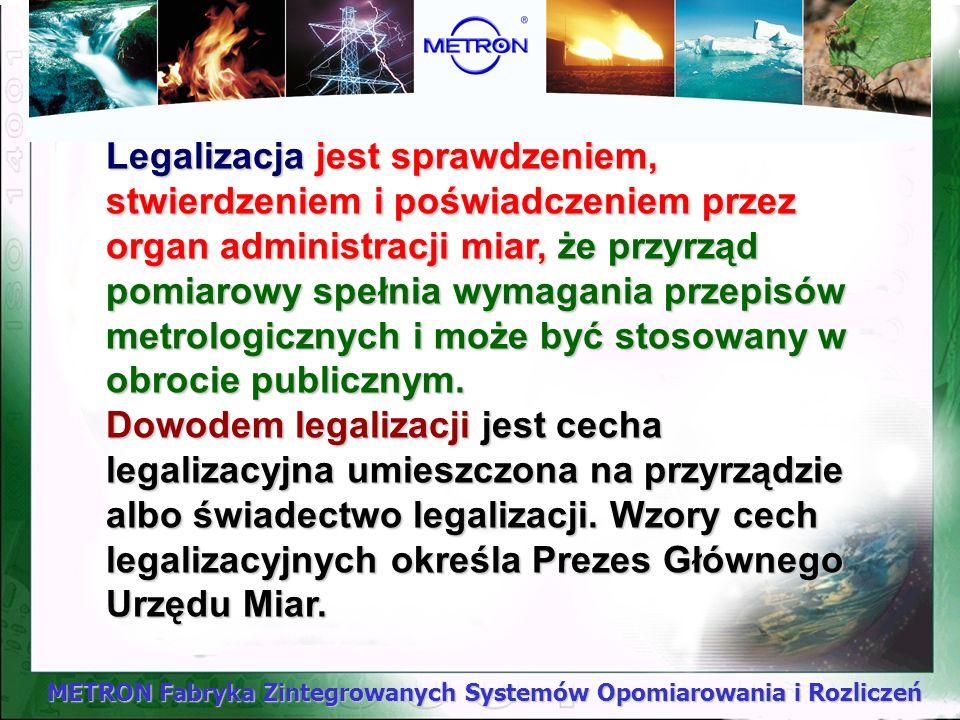 METRON Fabryka Zintegrowanych Systemów Opomiarowania i Rozliczeń 1.We wszystkich dziedzinach życia publicznego do wyrażania wartości wielkości fizyczn