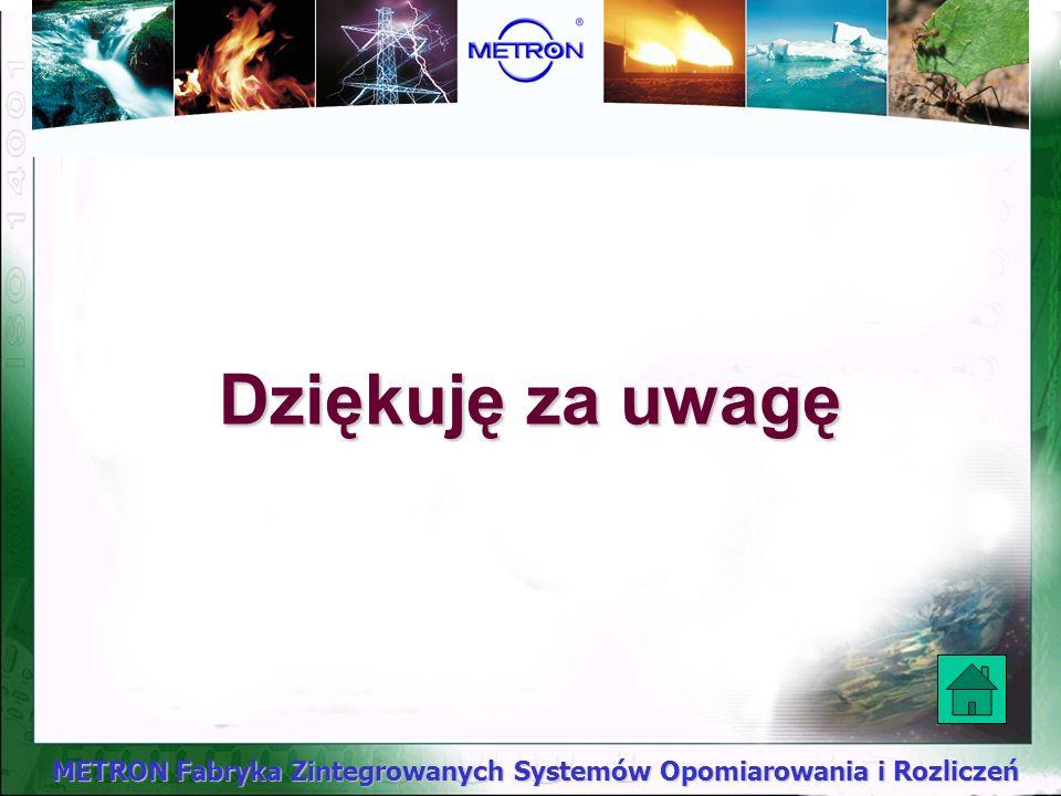METRON Fabryka Zintegrowanych Systemów Opomiarowania i Rozliczeń Gotowi jesteśmy rozwiązać każdy problem z zakresu gospodarki wodociągowej: np.: - opr