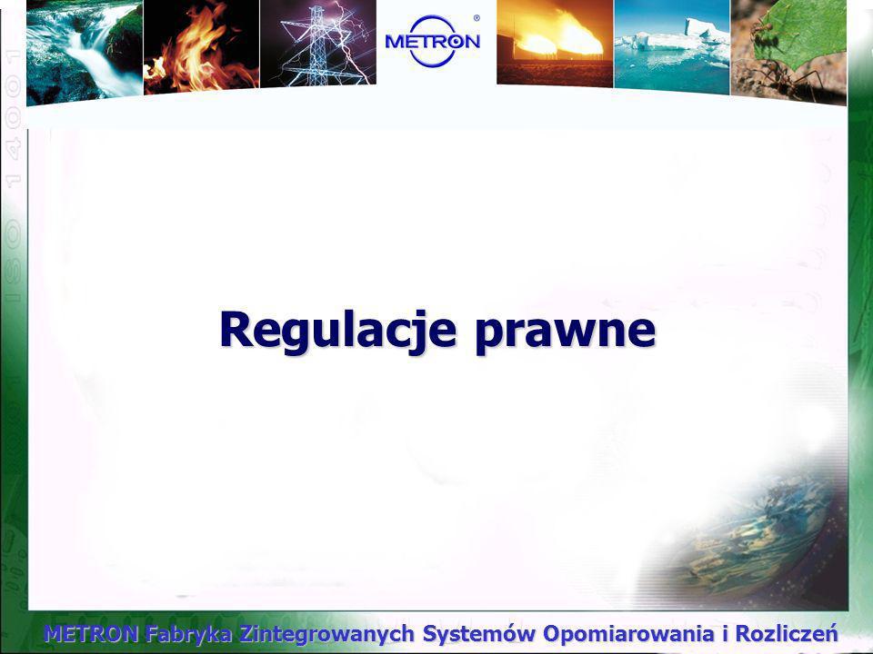 METRON Fabryka Zintegrowanych Systemów Opomiarowania i Rozliczeń Toruń, wrzesień 2001 r. Prezentacja pt.: Prawne, techniczne i organizacyjne uwarunkow