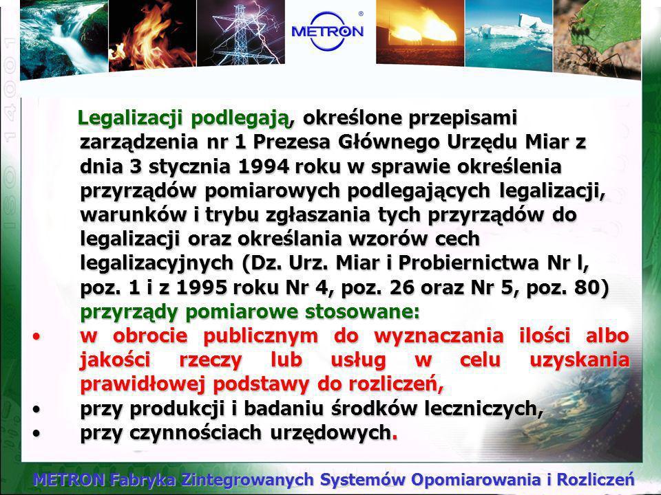 METRON Fabryka Zintegrowanych Systemów Opomiarowania i Rozliczeń Dobór wodomierzy domowych - przykład Budynek wielorodzinny w Olsztynie: - ilość mieszkań 71 - suma normatywnych wypływów na 1 mieszkanie qn=0,89 dm 3 /s - qn=0,89 dm 3 /s * 71mieszkań = 63,19 dm 3 /s Na podstawie normy PN-92/B-01706 przeprowadzając wyliczenia otrzymujemy następujący przepływ obliczeniowy q dla budynku: q =1,7*( qn) 0,21 – 0,7 = 1,7*( 63,19) 0,21 –0,7 = 3,36 dm 3 /s tj.