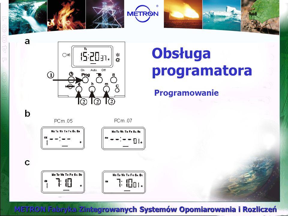 METRON Fabryka Zintegrowanych Systemów Opomiarowania i Rozliczeń Obsługa programatora Programowanie