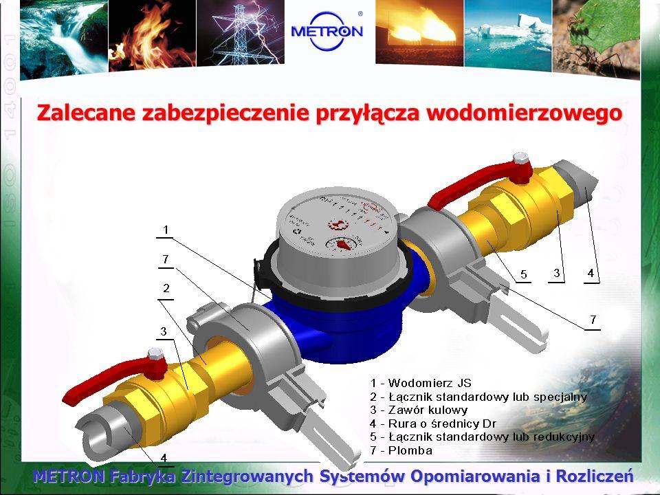 METRON Fabryka Zintegrowanych Systemów Opomiarowania i Rozliczeń Zalecane zabezpieczenie przyłącza wodomierzowego