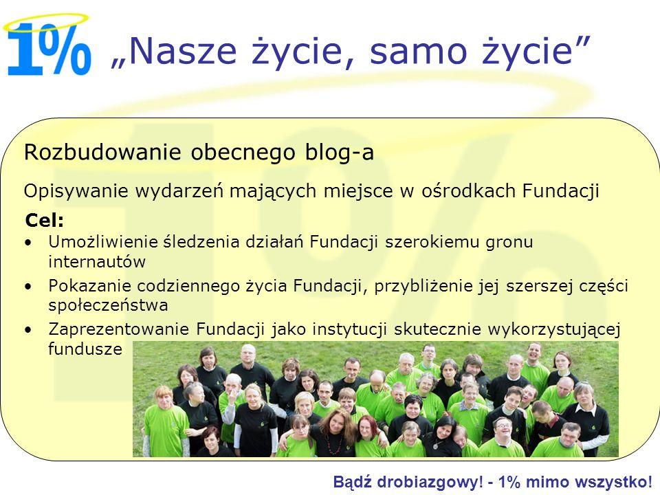 Rozbudowanie obecnego blog-a Opisywanie wydarzeń mających miejsce w ośrodkach Fundacji Umożliwienie śledzenia działań Fundacji szerokiemu gronu intern
