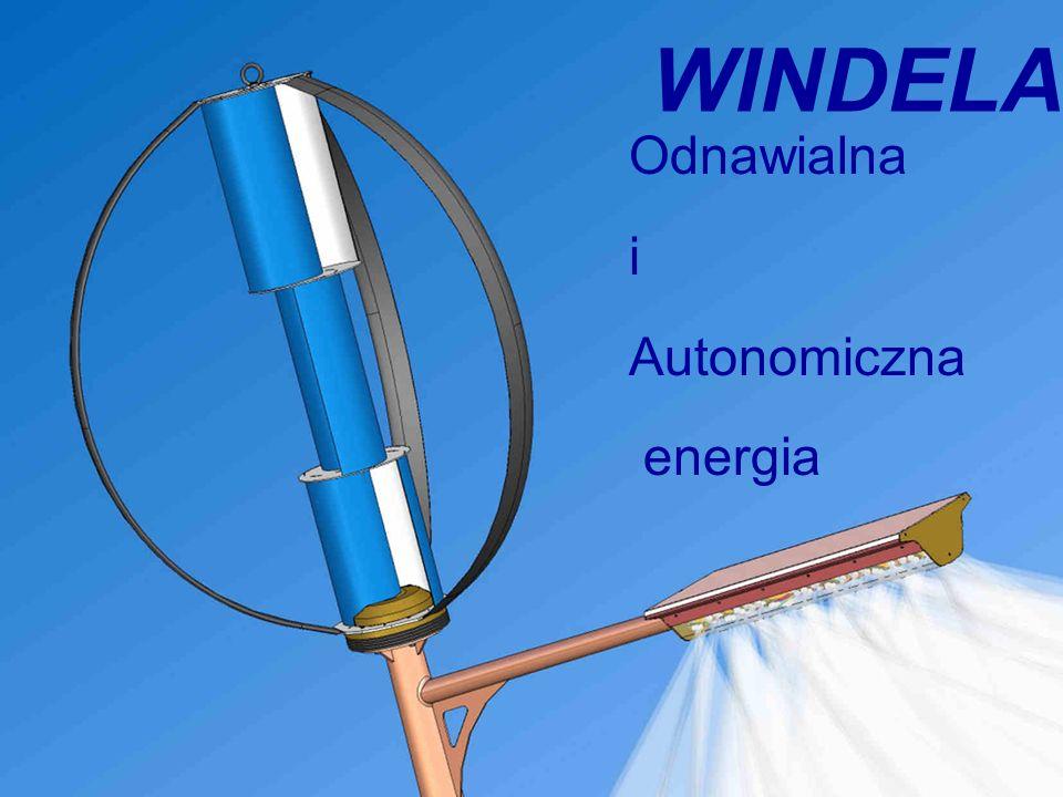 Page: 12/23 Energy by the wind WINDELA: niezależna latarnia uliczna Generator Wybór oryginalnego modelu generatora pomógł zwiększyć wydajność i niezawodność.