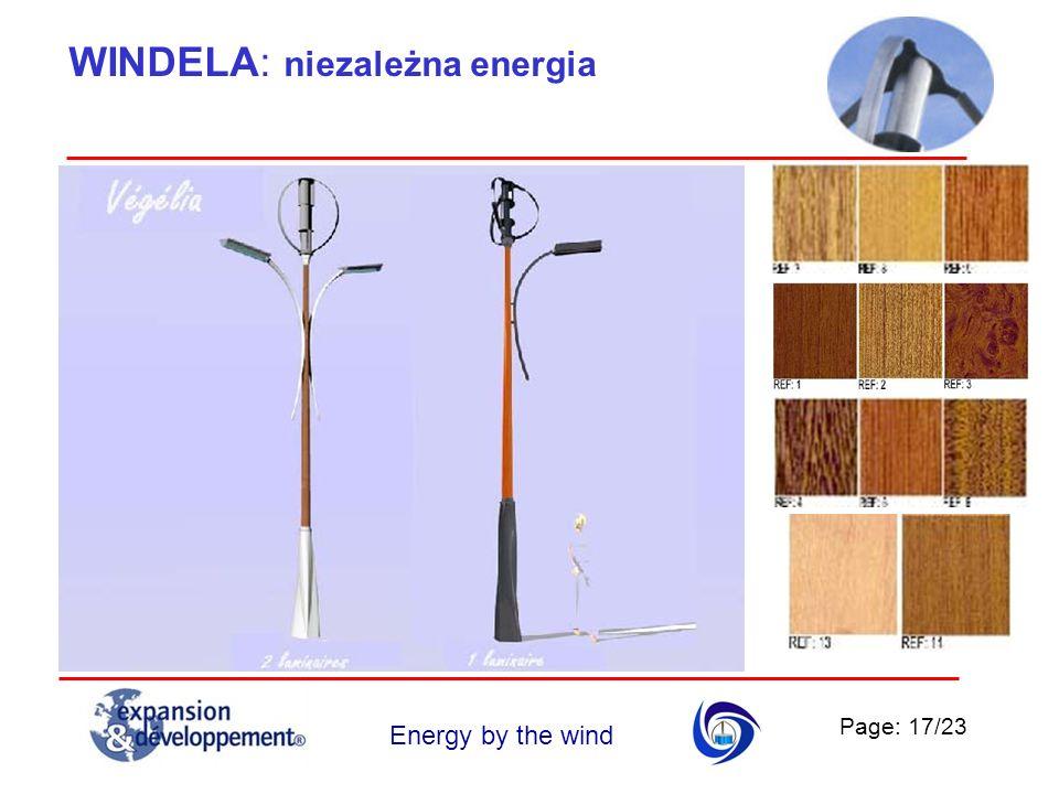 Page: 17/23 Energy by the wind WINDELA: niezależna energia