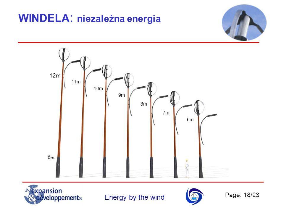 Page: 18/23 Energy by the wind WINDELA : niezależna energia 12m 11m 10m 9m 8m 7m 6m