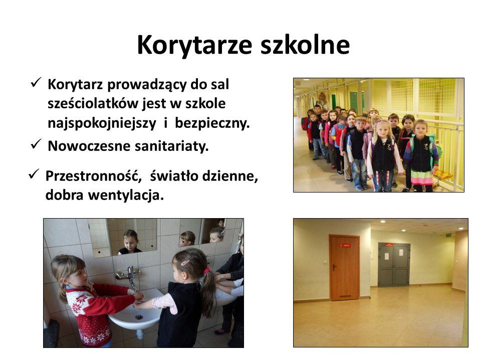 Korytarze szkolne Korytarz prowadzący do sal sześciolatków jest w szkole najspokojniejszy i bezpieczny.
