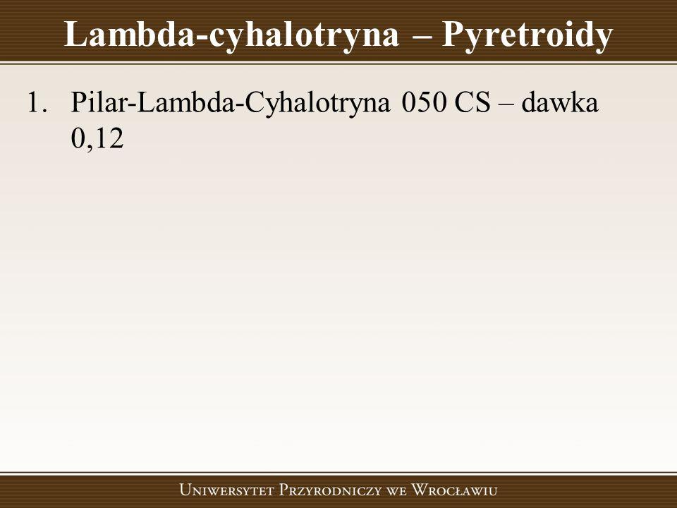 Lambda-cyhalotryna – Pyretroidy 1.Pilar-Lambda-Cyhalotryna 050 CS – dawka 0,12