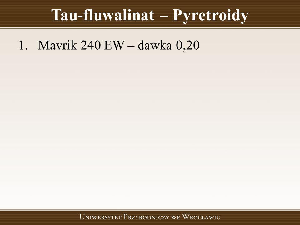 Tau-fluwalinat – Pyretroidy 1.Mavrik 240 EW – dawka 0,20