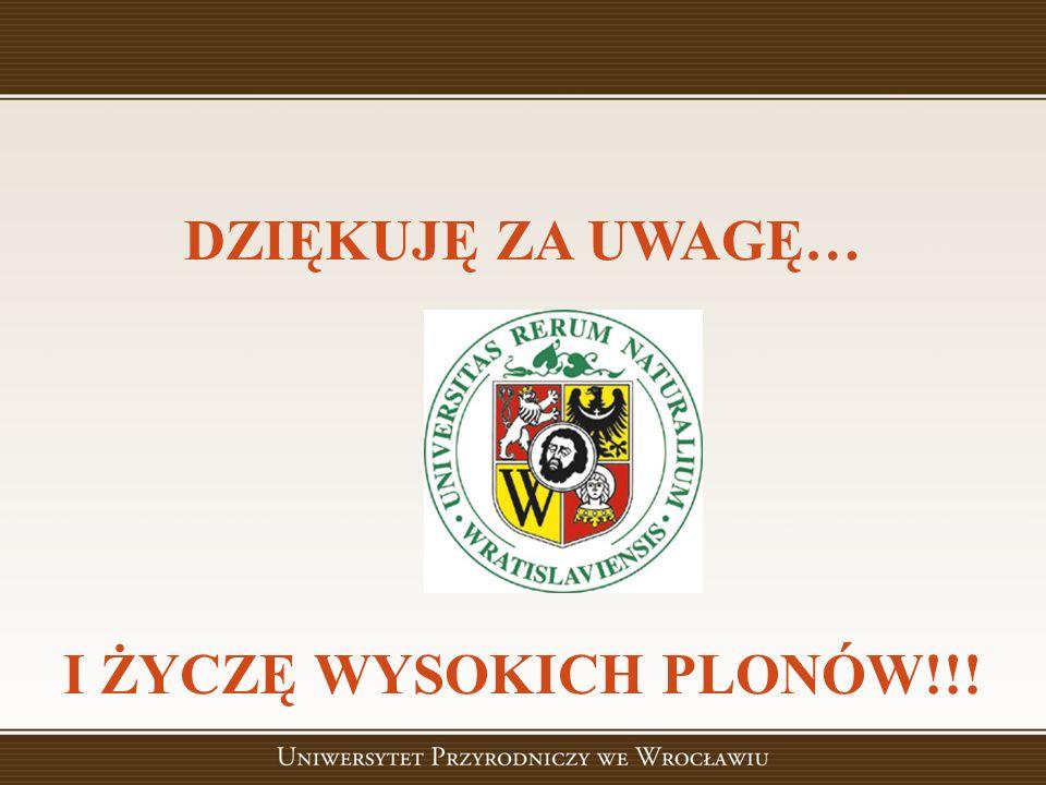DZIĘKUJĘ ZA UWAGĘ… I ŻYCZĘ WYSOKICH PLONÓW!!!
