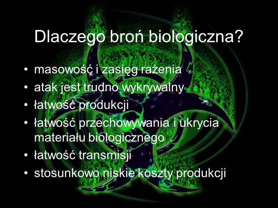Dlaczego broń biologiczna.
