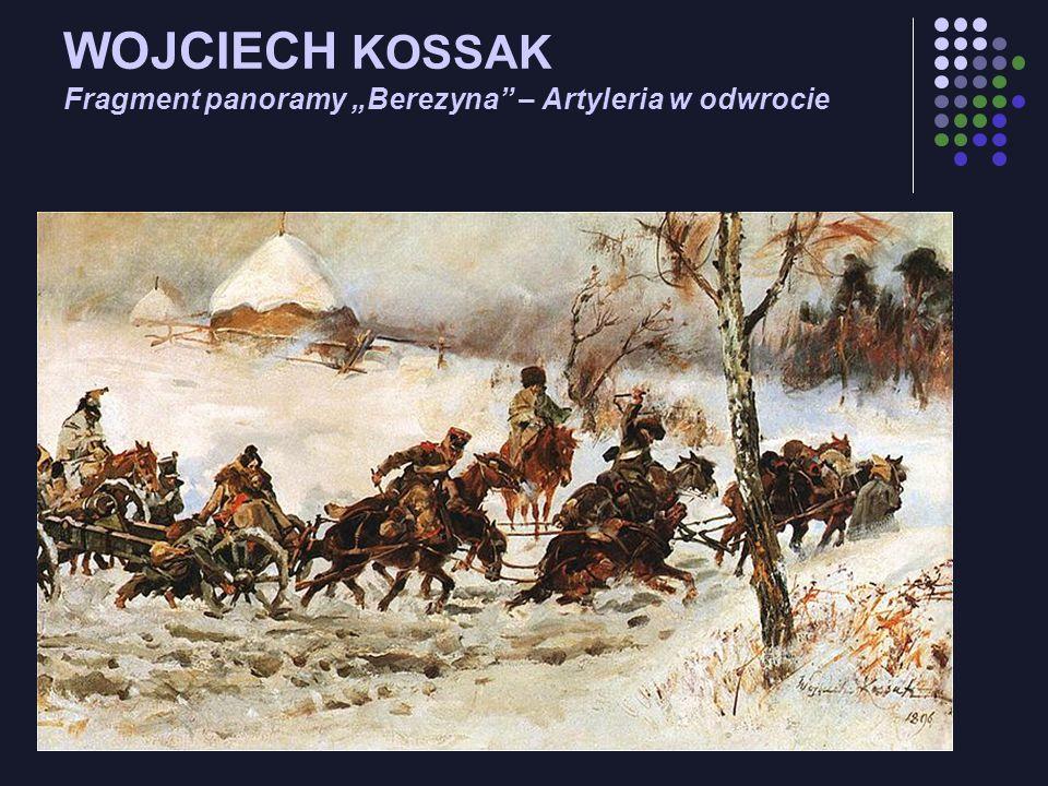 WOJCIECH KOSSAK Fragment panoramy Berezyna – Artyleria w odwrocie