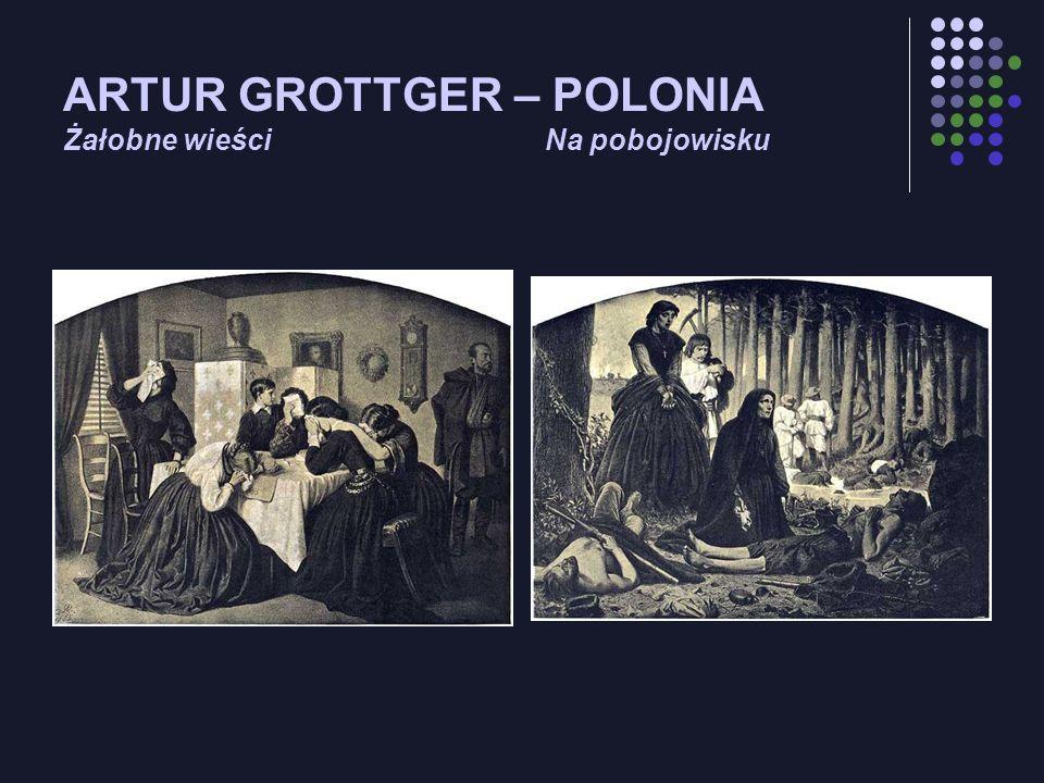 ARTUR GROTTGER – POLONIA Żałobne wieści Na pobojowisku