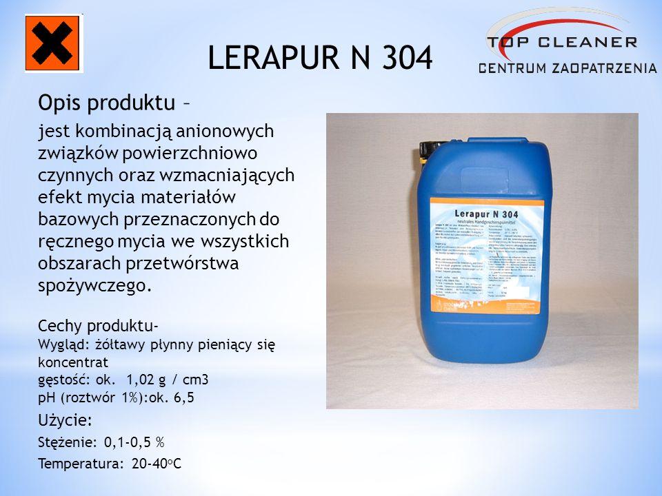 Opis produktu – jest kombinacją anionowych związków powierzchniowo czynnych oraz wzmacniających efekt mycia materiałów bazowych przeznaczonych do ręcz