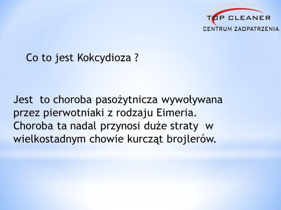 Co to jest Kokcydioza ? Jest to choroba pasożytnicza wywoływana przez pierwotniaki z rodzaju Eimeria. Choroba ta nadal przynosi duże straty w wielkost