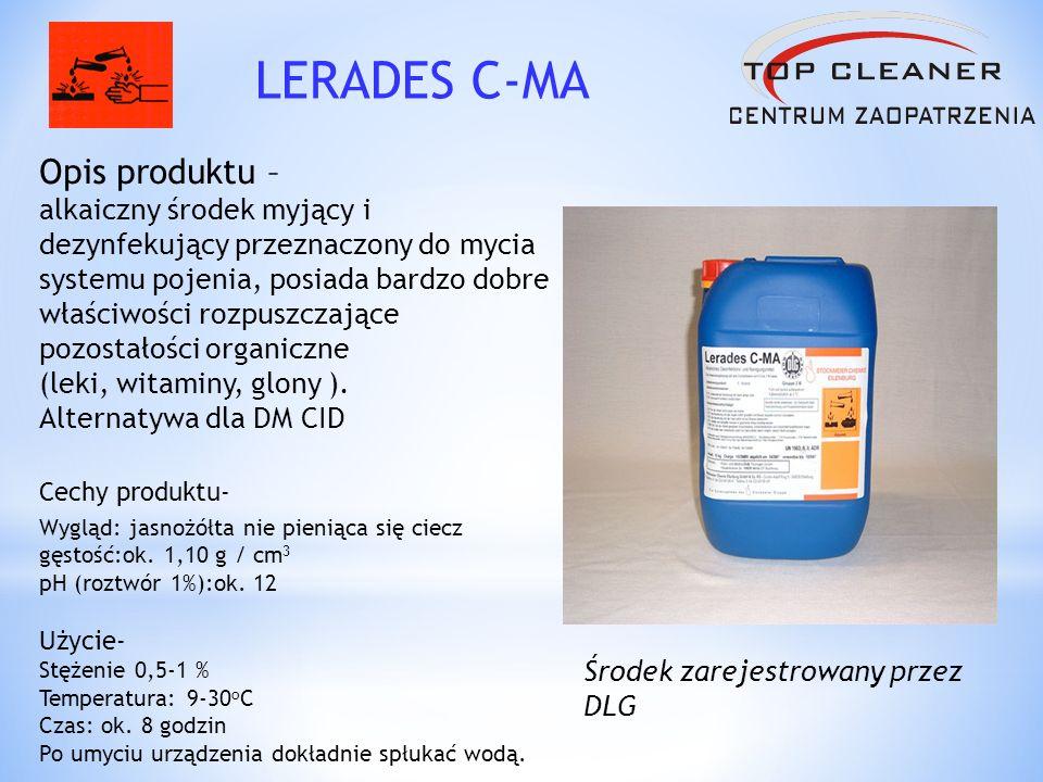 Opis produktu – kwaśny środek myjący usuwający wszelkie naloty mineralne (odkamienianie).
