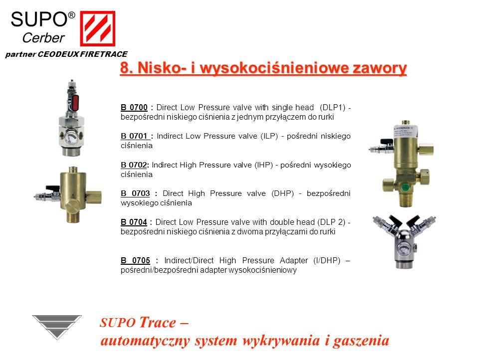 8. Nisko- i wysokociśnieniowe zawory B 0700 : Direct Low Pressure valve with single head (DLP1) - bezpośredni niskiego ciśnienia z jednym przyłączem d