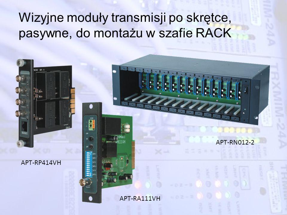 Wizyjne moduły transmisji po skrętce, pasywne, do montażu w szafie RACK APT-RN012-2 APT-RP414VH APT-RA111VH