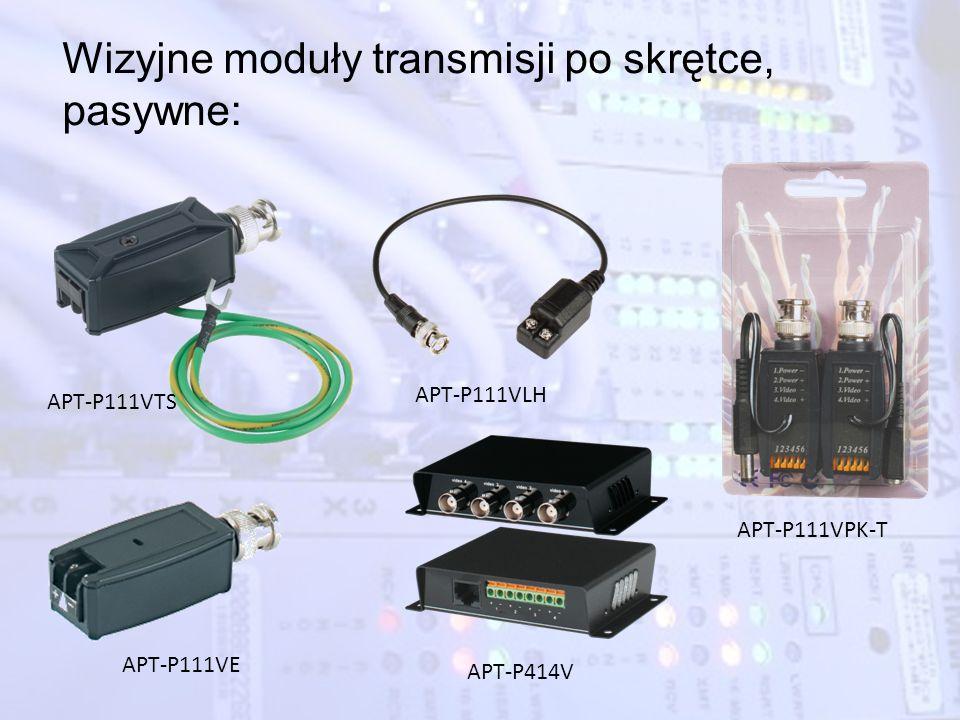Wizyjne moduły transmisji po skrętce, pasywne: APT-P111VE APT-P111VTS APT-P111VLH APT-P111VPK-T APT-P414V