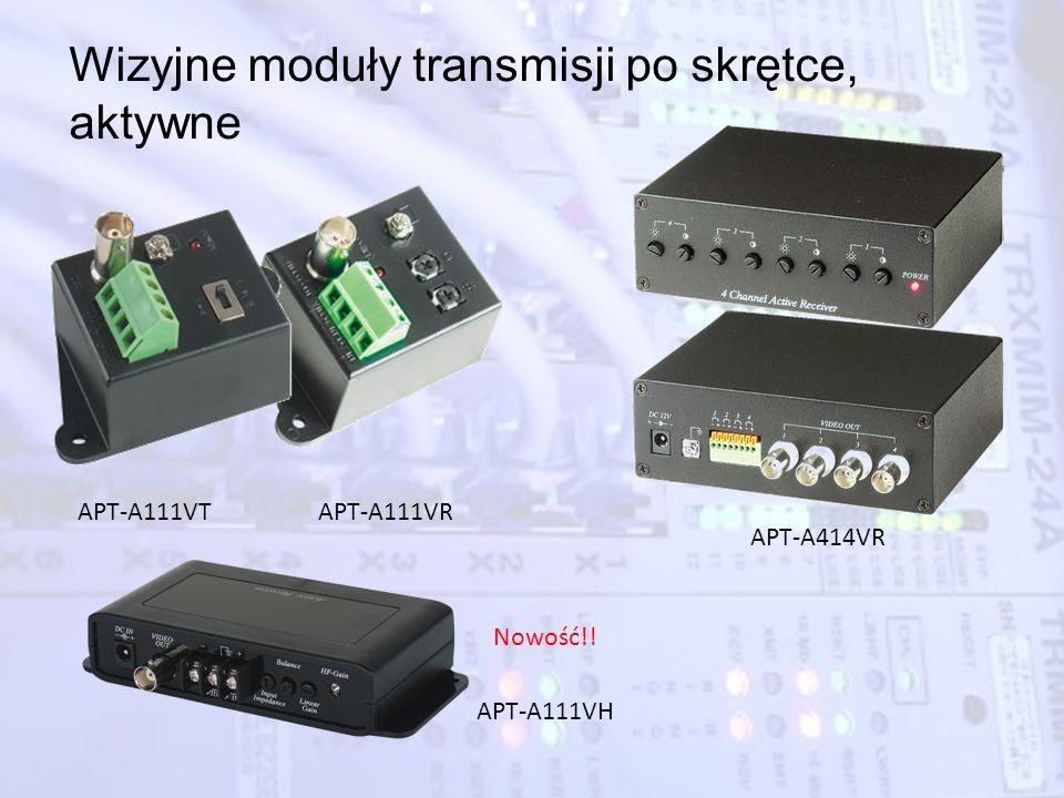Wizyjne moduły transmisji po skrętce, aktywne APT-A111VTAPT-A111VR APT-A414VR APT-A111VH Nowość!!