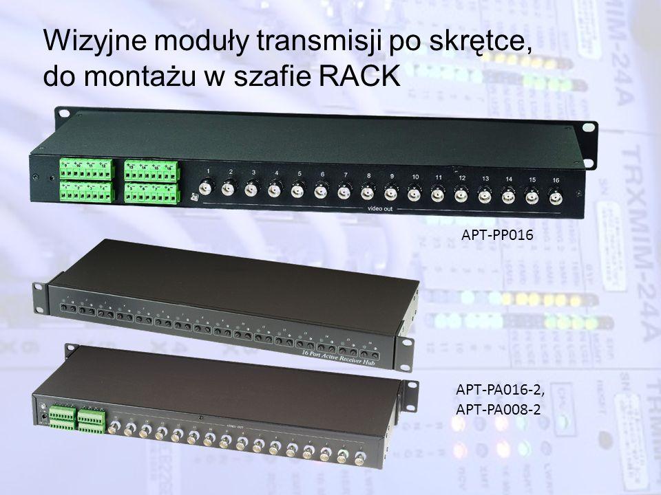 Wizyjne moduły transmisji po skrętce, do montażu w szafie RACK APT-PP016 APT-PA016-2, APT-PA008-2