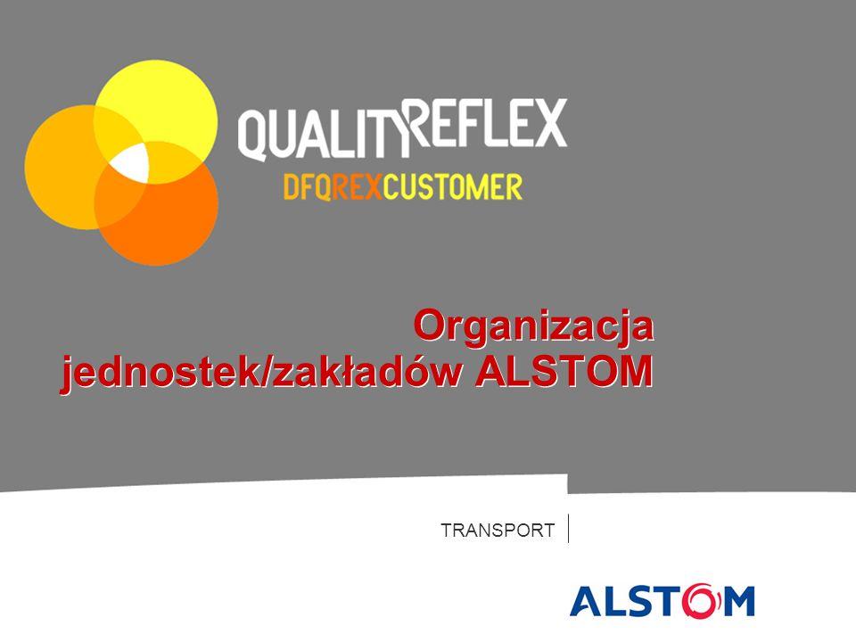 TRANSPORT Organizacja jednostek/zakładów ALSTOM