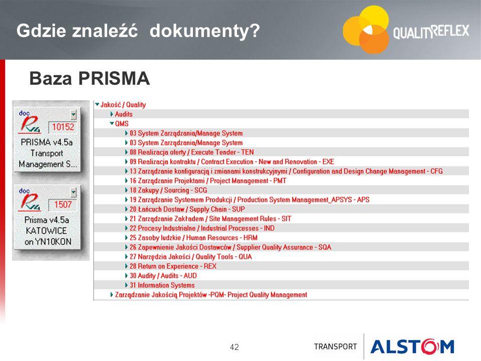 42 Gdzie znaleźć dokumenty? Baza PRISMA