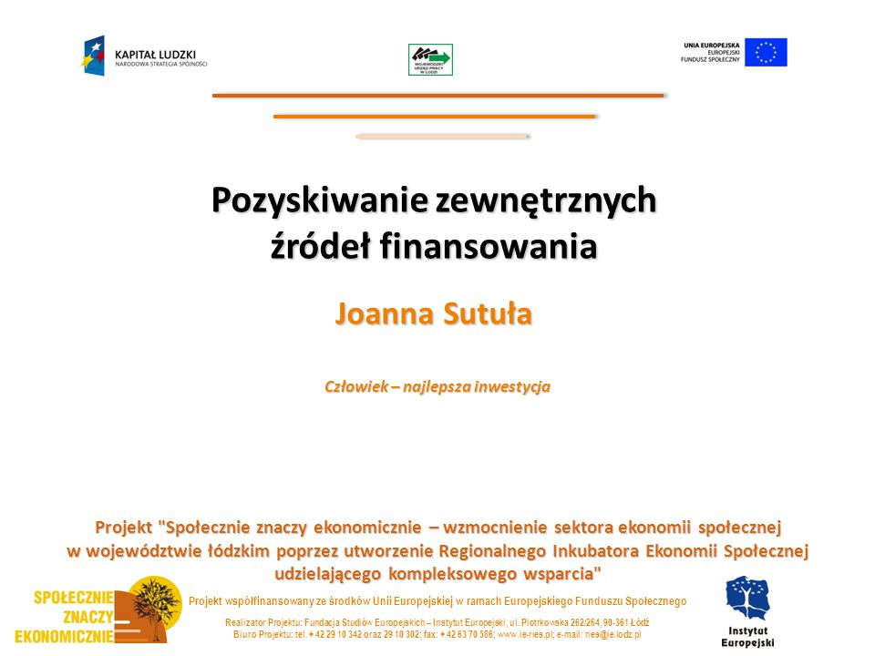1.Przegląd potencjalnych źródeł finansowania: Kto może pozyskać środki.