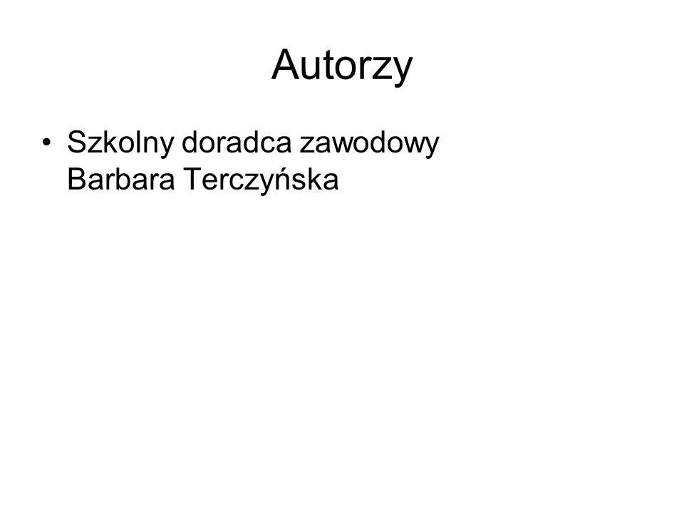 Autorzy Szkolny doradca zawodowy Barbara Terczyńska