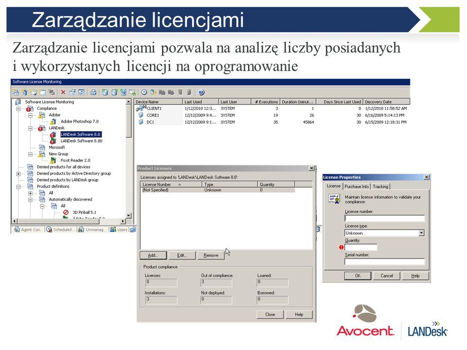 Dystrybucja oprogramowania Oprogramowanie można instalować zdalnie za pomocą kilku mechanizmów. Mogą to być m.in. pakiety MSI, specjalne pakiety SWD a