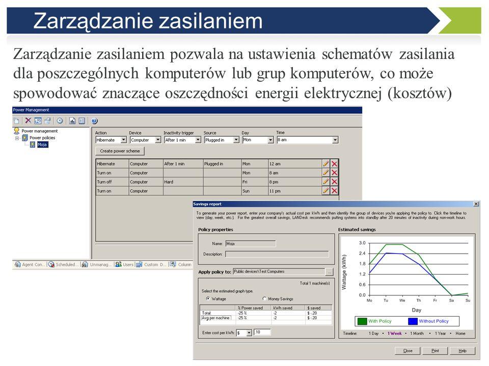 Zarządzanie licencjami Zarządzanie licencjami pozwala na analizę liczby posiadanych i wykorzystanych licencji na oprogramowanie