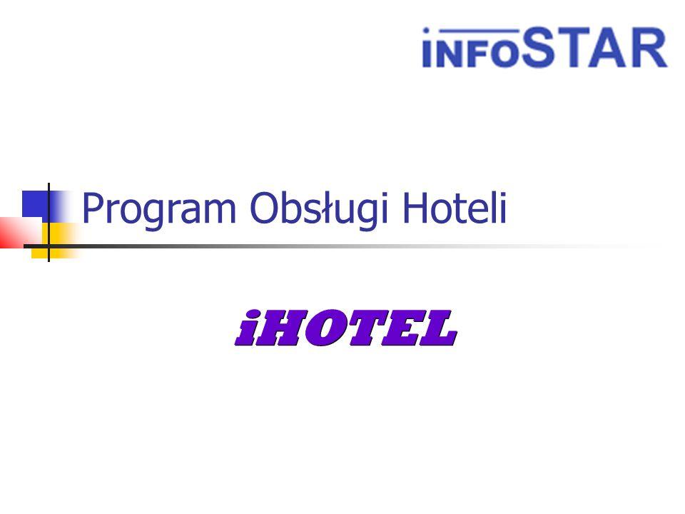 Wstęp iHOTEL Program iHOTEL w pełni automatyzuje pracę związaną z obsługą recepcji hotelowej, od wprowadzania rezerwacji gościa do jego wymeldowania, będąc przy tym rozbudowanym systemem sprzedaży (prowadzenie rachunku gościa).