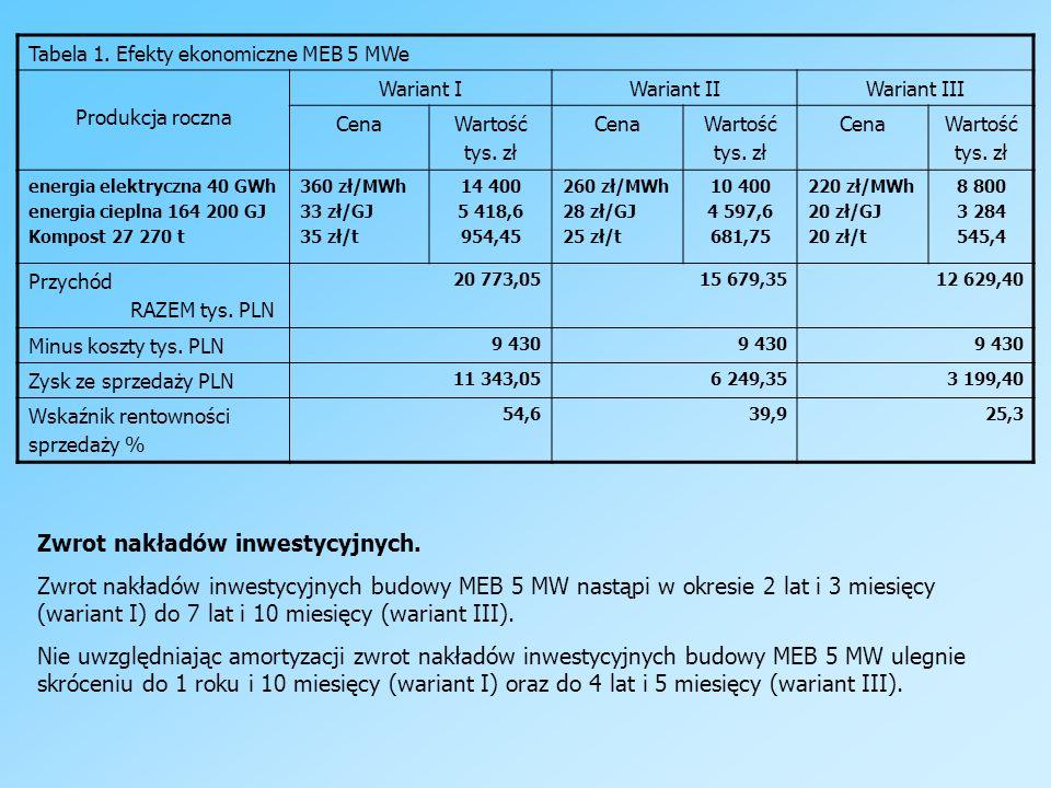 Tabela 1. Efekty ekonomiczne MEB 5 MWe Produkcja roczna Wariant IWariant IIWariant III CenaWartość tys. zł CenaWartość tys. zł CenaWartość tys. zł ene