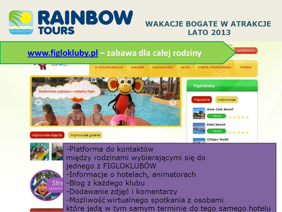www.figlokluby.plwww.figlokluby.pl – zabawa dla całej rodziny WAKACJE BOGATE W ATRAKCJE LATO 2013 -Platforma do kontaktów między rodzinami wybierający