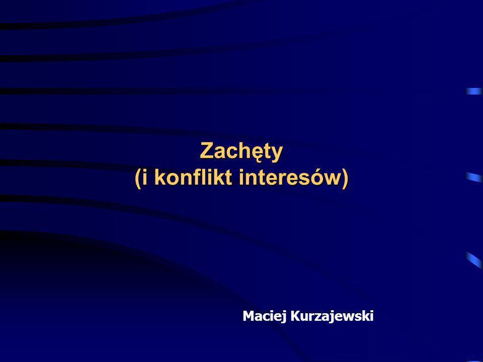 Zachęty (i konflikt interesów) Maciej Kurzajewski