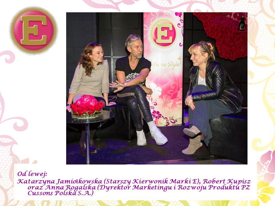 Od lewej: Katarzyna Jamio ł kowska (Starszy Kierwonik Marki E), Robert Kupisz oraz Anna Rogalska (Dyrektor Marketingu i Rozwoju Produktu PZ Cussons Polska S.A.)