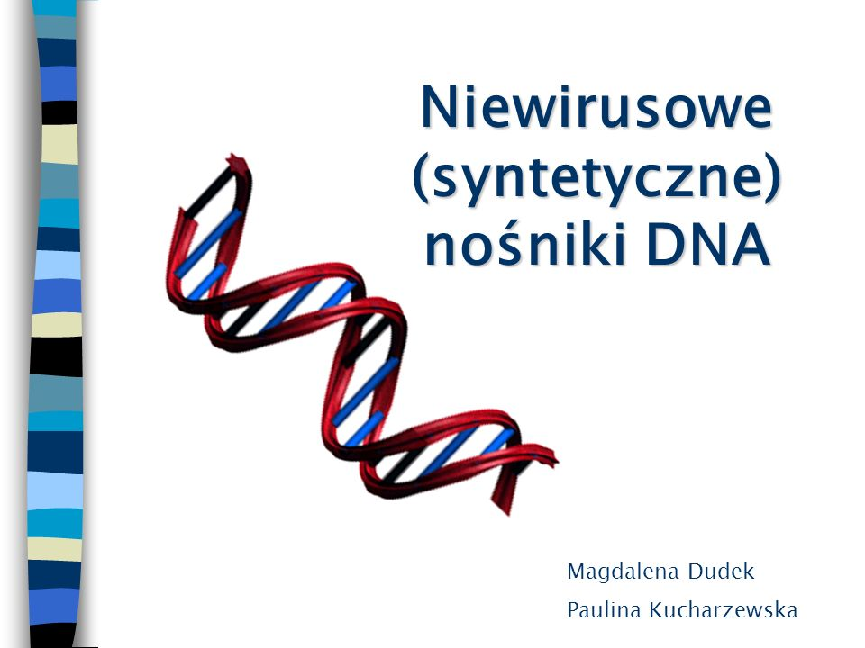 Niewirusowe (syntetyczne) nośniki DNA Magdalena Dudek Paulina Kucharzewska