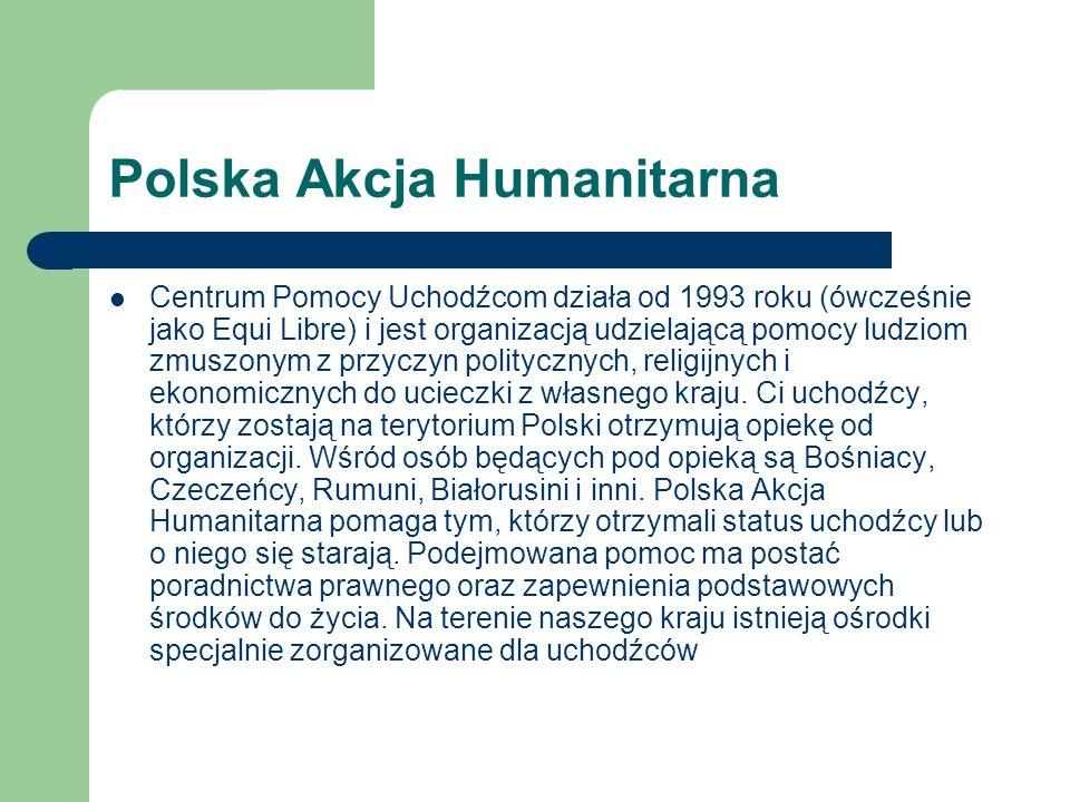 Polski Czerwony Krzyż szkolenie drużyn sanitarnych organizowanie honorowego krwiodawstwa organizowanie kursów ratowniczych szerzenie idei humanitaryzmu we współczesnym świecie poszukiwanie osób zaginionych podczas wojny w ramach Biura Informacji i Poszukiwań poszukiwanie osób represjonowanych przez system stalinowski zapobieganie chorobom zakaźnym i cywilizacyjnym uczestnictwo w międzynarodowych akcjach pomocy humanitarnej udzielanie pomocy uchodźcom z różnych krajów.