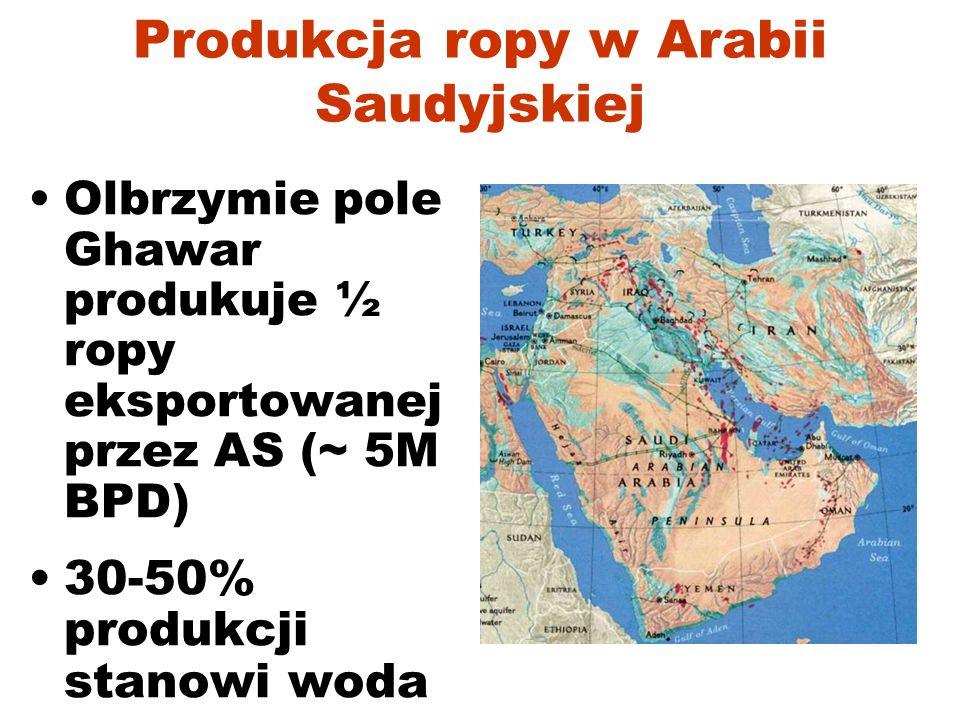 Dostawy ropy wg regionów: Pik Hubberta