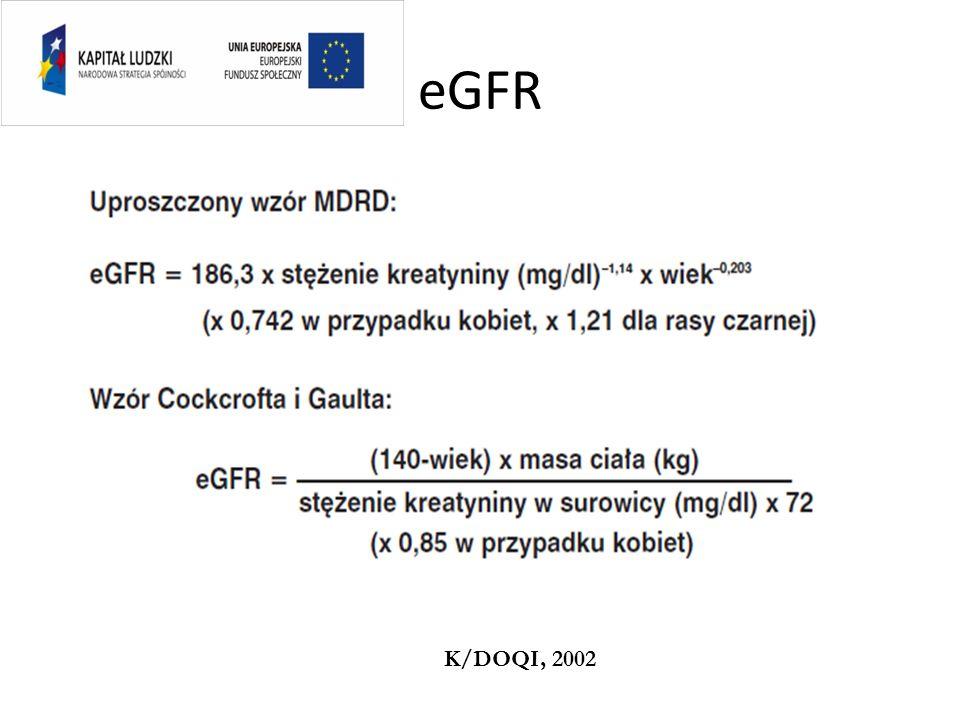 23 Rokowanie pogarsza się wraz z postępem PChN Wg Go et al. NEJM 2004; 351:1296-1305 Wzrost częstości zdarzeń Spadek eGFR Powikłania sercowo-naczyniow