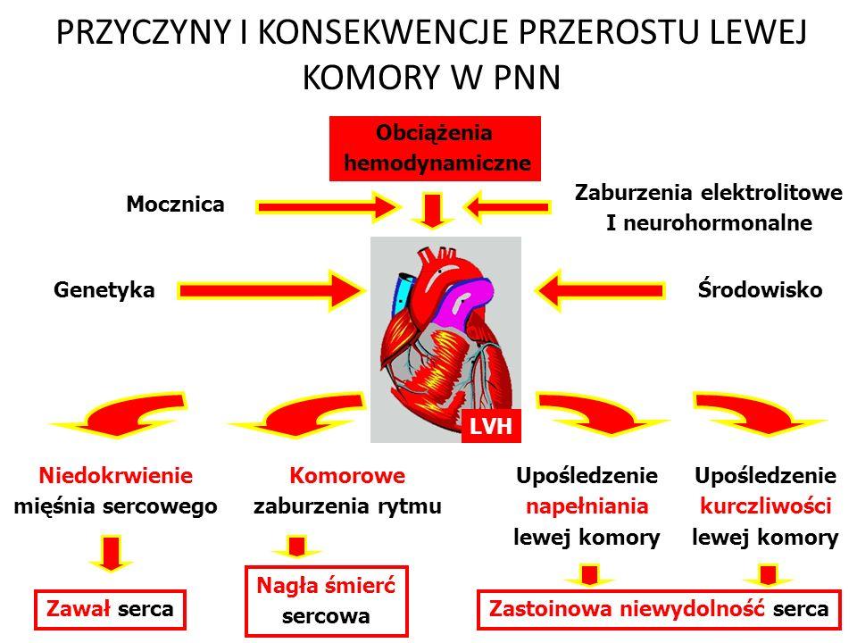 ET-1 i PDFG-B skurcz naczyń Rozplem mięśni gładkich Ograniczenie przepływu krwi przez nerki GFR Ograniczenie rozkurczu naczyń Przyleganie i agregacja monocytów i leukocytów Peroksydacja lipidów Aktywacja płytek i krzepnięcia Uszkodzenie śródbłonka Nadciśnienie tętnicze Miażdżyca