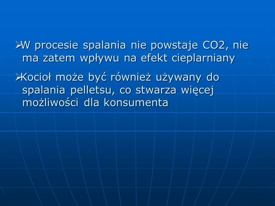 W procesie spalania nie powstaje CO2, nie ma zatem wpływu na efekt cieplarniany W procesie spalania nie powstaje CO2, nie ma zatem wpływu na efekt cie