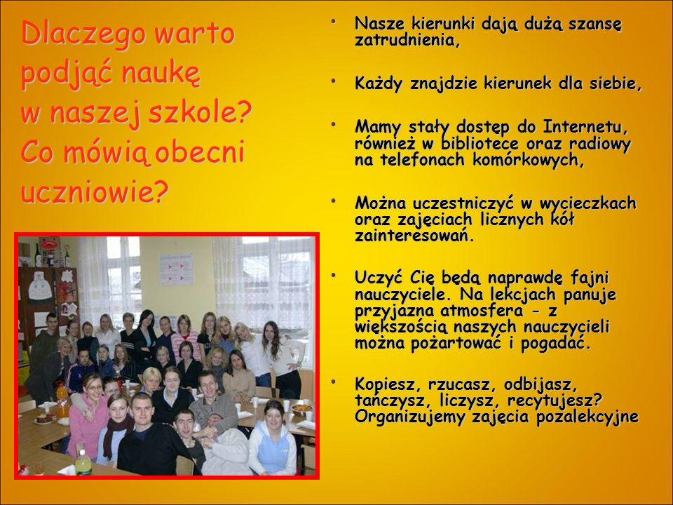 Dlaczego warto podjąć naukę w naszej szkole. Co mówią obecni uczniowie.